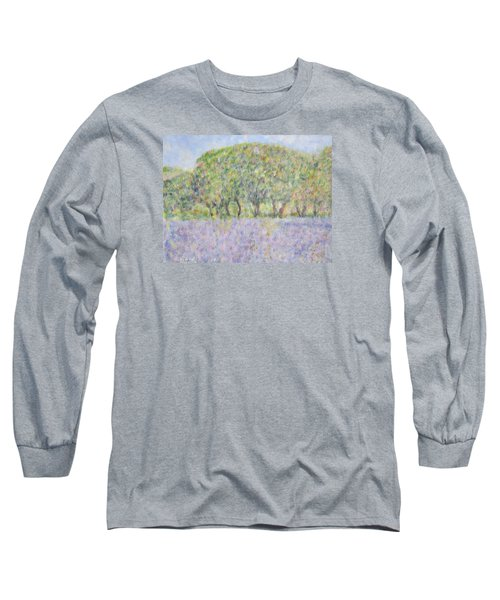 Blue Bonnets  Field In  Texas Long Sleeve T-Shirt