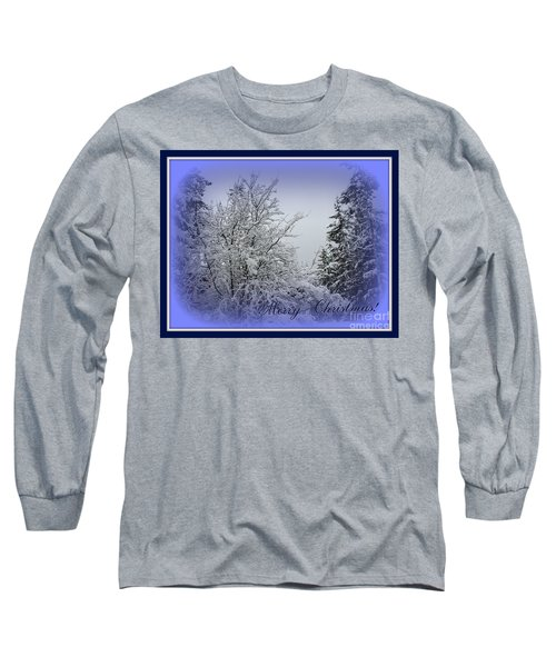 Blue Christmas Long Sleeve T-Shirt
