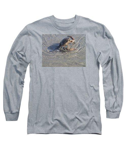 Blue Crab Chillin Long Sleeve T-Shirt