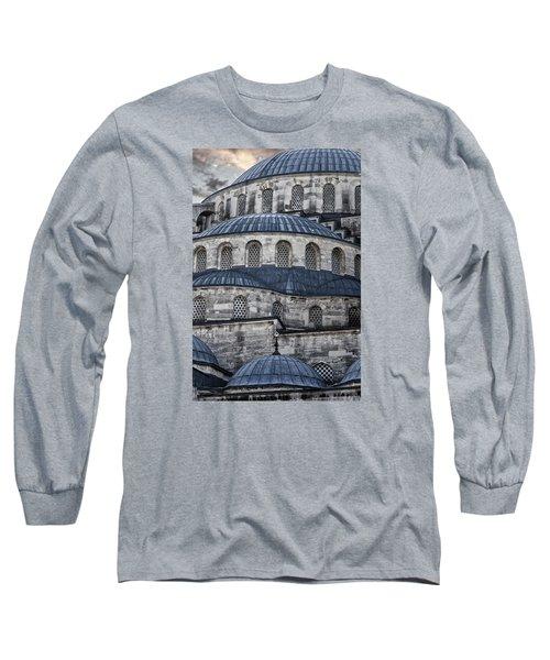 Blue Dawn Blue Mosque Long Sleeve T-Shirt by Joan Carroll