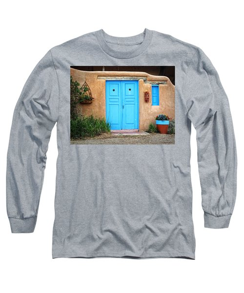 Blue Doors Of Taos Long Sleeve T-Shirt