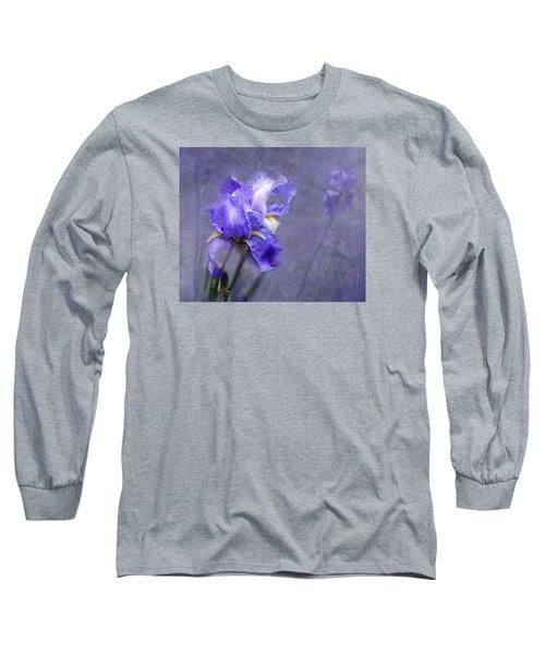 Blue Iris Long Sleeve T-Shirt by Lena Auxier