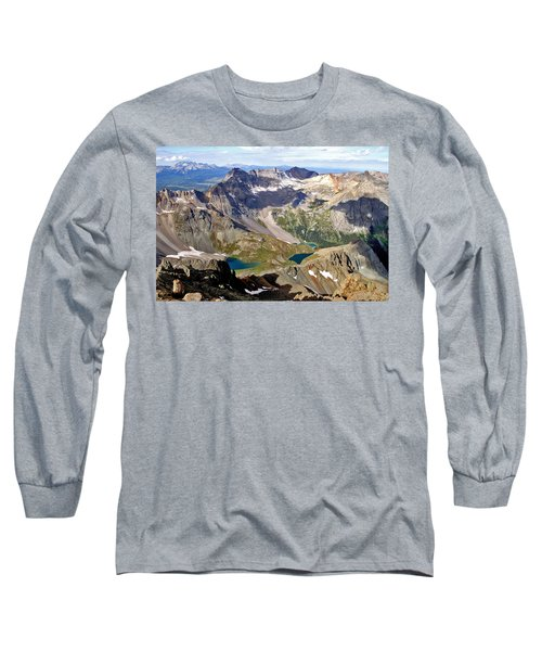 Long Sleeve T-Shirt featuring the photograph Blue Lakes Beauty by Jeremy Rhoades