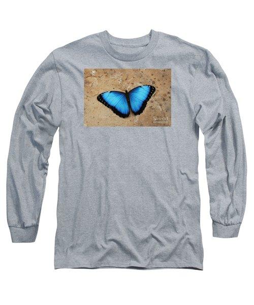 Blue Morpho #2 Long Sleeve T-Shirt by Judy Whitton