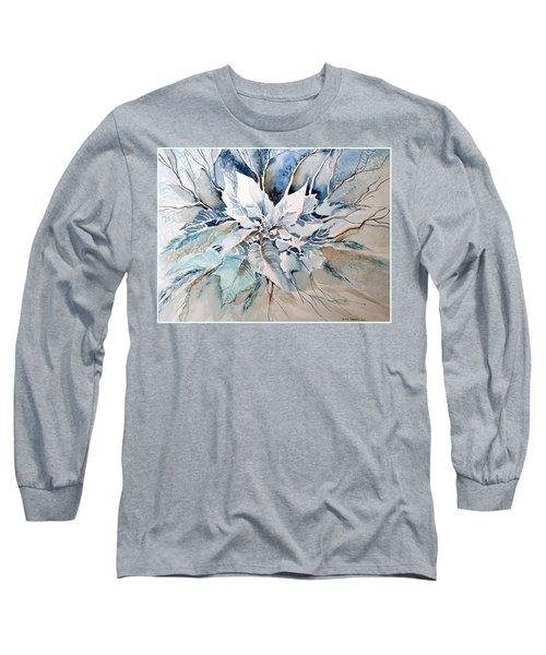 Blue Poinsettia Long Sleeve T-Shirt