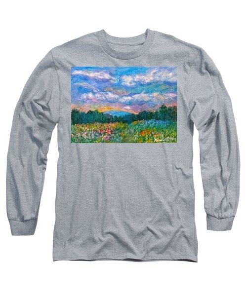Blue Ridge Wildflowers Long Sleeve T-Shirt by Kendall Kessler