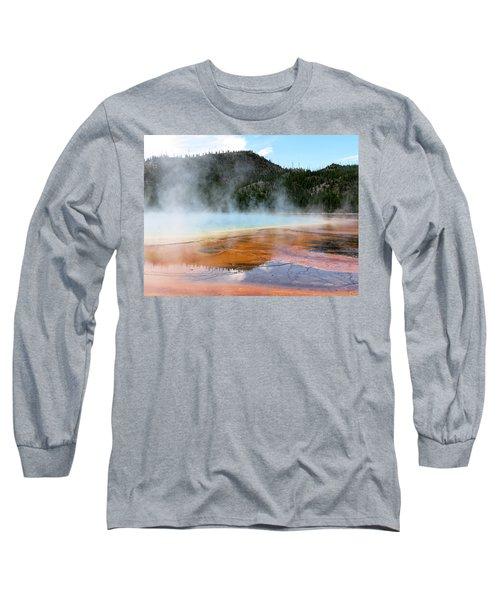 Blue Steam Long Sleeve T-Shirt by Laurel Powell