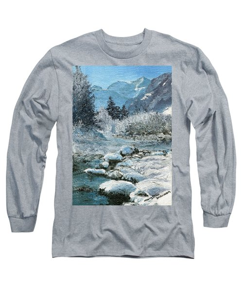 Blue Winter Long Sleeve T-Shirt