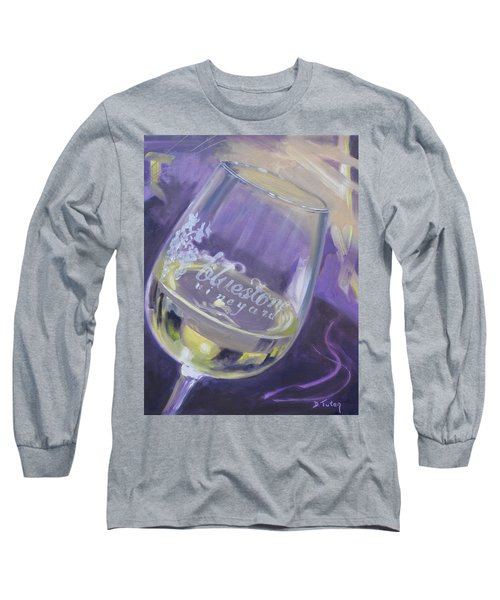 Bluestone Vineyard Wineglass Long Sleeve T-Shirt