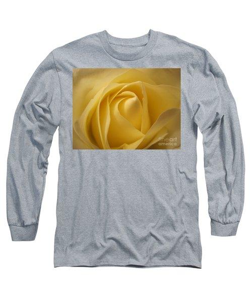 Blushing Cream Rose  Long Sleeve T-Shirt
