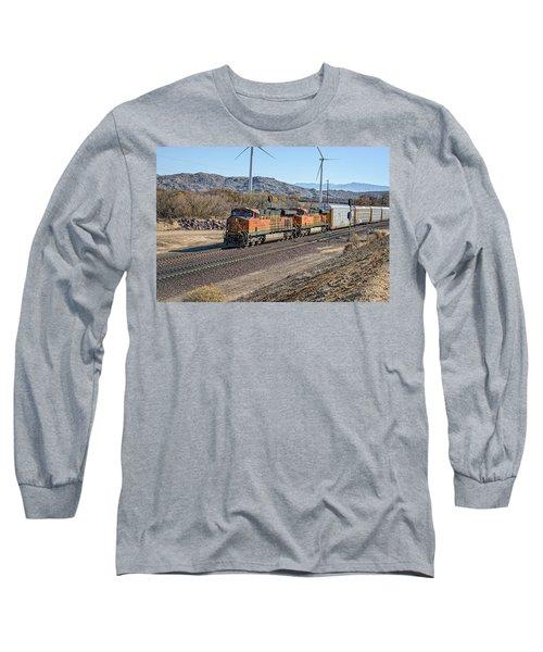 Bnsf 7454 Long Sleeve T-Shirt by Jim Thompson