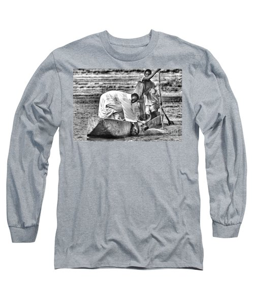 Boat And Cow  Long Sleeve T-Shirt