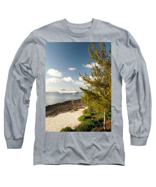 Long Sleeve T-Shirt featuring the photograph Boat In Port by Amar Sheow