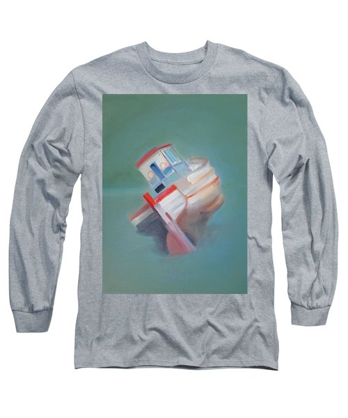 Long Sleeve T-Shirt featuring the painting Boat Retired  Tavira by Charles Stuart