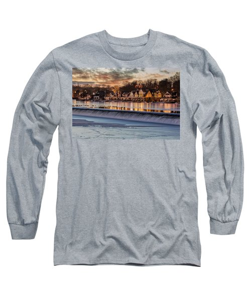 Long Sleeve T-Shirt featuring the photograph Boathouse Row Philadelphia Pa by Susan Candelario