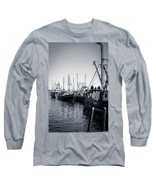Boats At The Pier  Long Sleeve T-Shirt