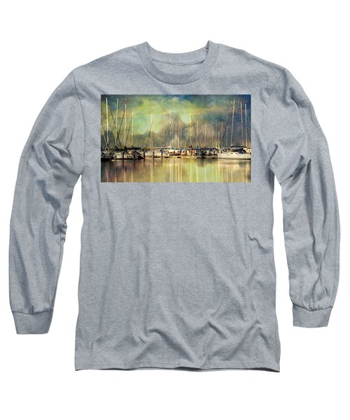 Boats In Harbour Long Sleeve T-Shirt