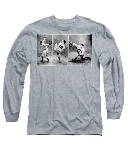 Bob Feller Pitching Long Sleeve T-Shirt