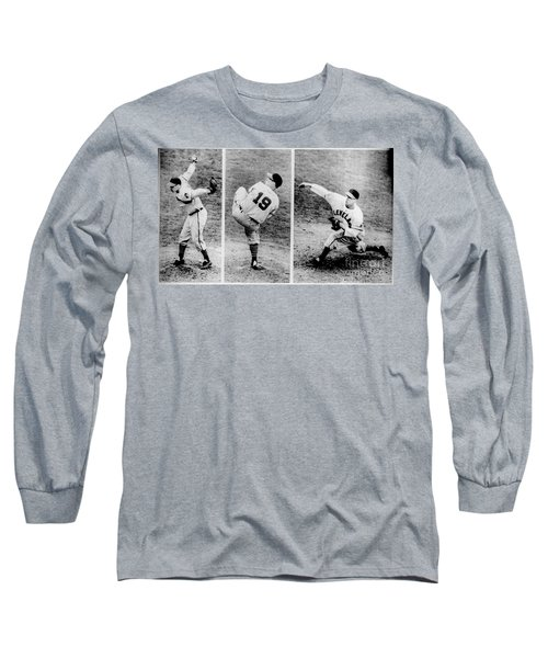 Bob Feller Pitching Long Sleeve T-Shirt