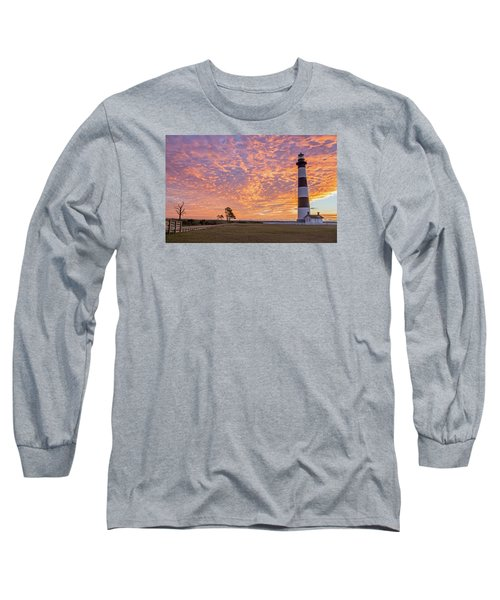 Bodie Island Lighthouse At Sunrise Long Sleeve T-Shirt