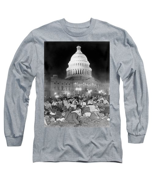 Bonus Army Sleeps At Capitol Long Sleeve T-Shirt by Underwood Archives