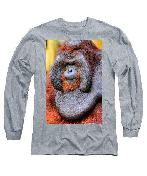 Bornean Orangutan Iv Long Sleeve T-Shirt
