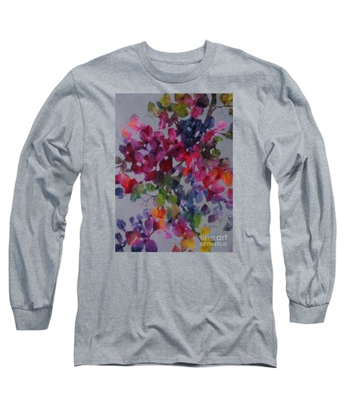 Long Sleeve T-Shirt featuring the painting Bougainvillea by Michelle Abrams