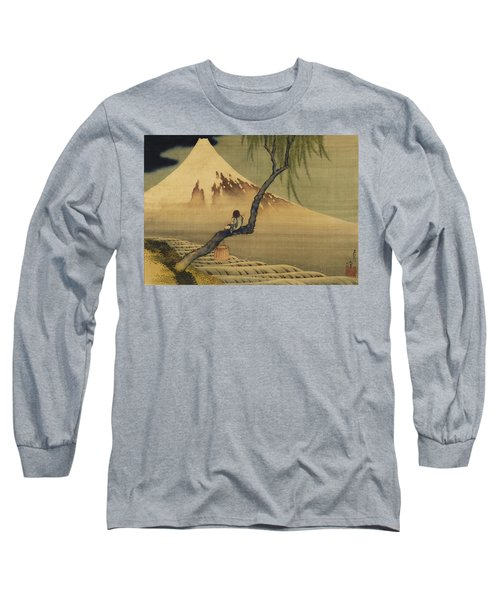 Boy Viewing Mount Fuji Long Sleeve T-Shirt