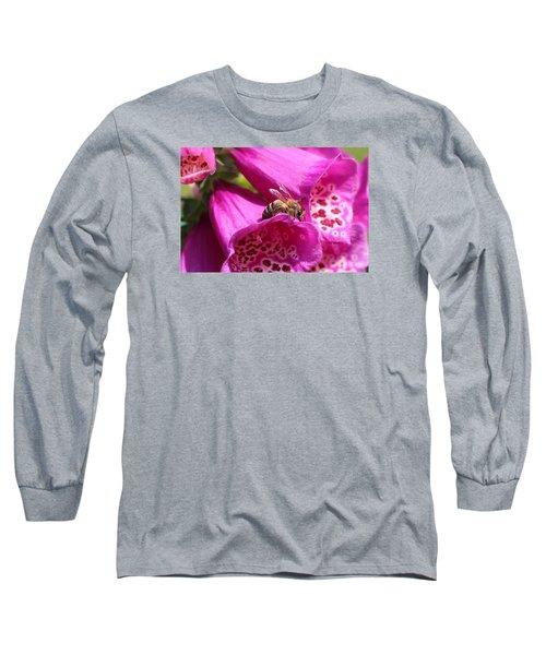 Bracing For A Good Drink Long Sleeve T-Shirt by Lucinda VanVleck