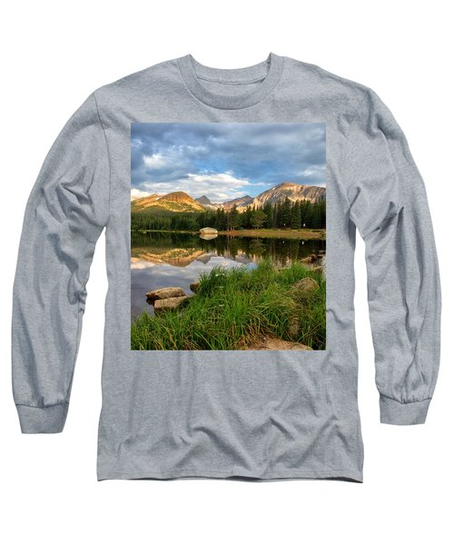 Brainard Lake Reflections Long Sleeve T-Shirt by Ronda Kimbrow