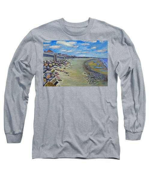 Brant Rock Beach Long Sleeve T-Shirt by Rita Brown