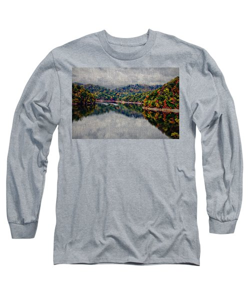Breaking The Mirrow Long Sleeve T-Shirt by Tom Culver
