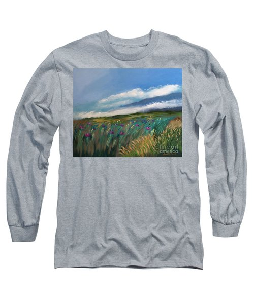 Breezy Day At Mauna Kea Long Sleeve T-Shirt