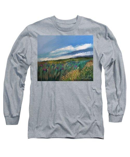 Breezy Day At Mauna Kea Long Sleeve T-Shirt