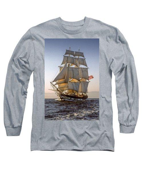 Brig Pilgrim Off Santa Barbara Long Sleeve T-Shirt
