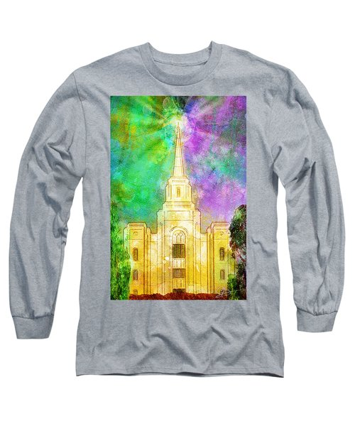 Long Sleeve T-Shirt featuring the painting The Heavens Were Opened by Greg Collins
