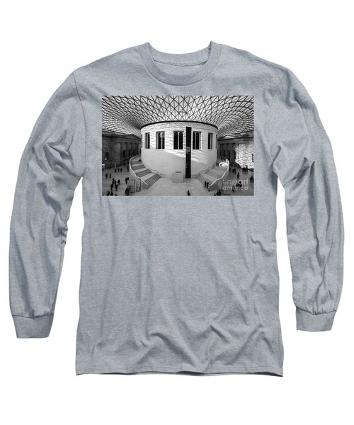 Long Sleeve T-Shirt featuring the photograph British Museum Black And White by Matt Malloy
