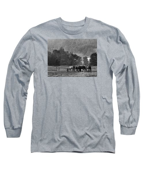 Long Sleeve T-Shirt featuring the photograph Broodmares by Joan Davis