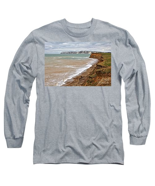 Brook Bay And Chalk Cliffs Long Sleeve T-Shirt