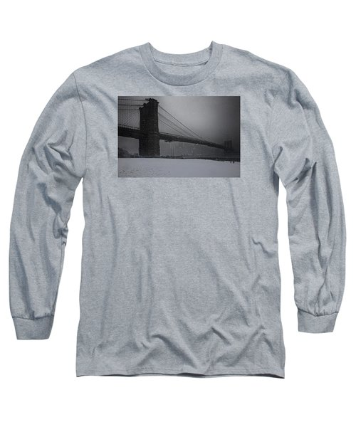 Brooklyn Bridge Blizzard Long Sleeve T-Shirt