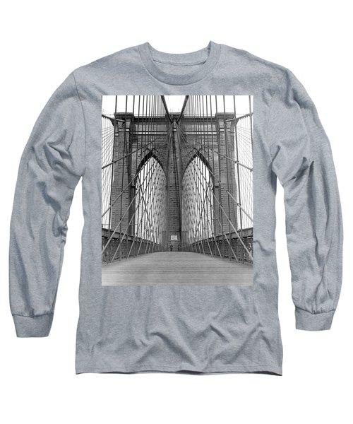 Brooklyn Bridge Promenade Long Sleeve T-Shirt
