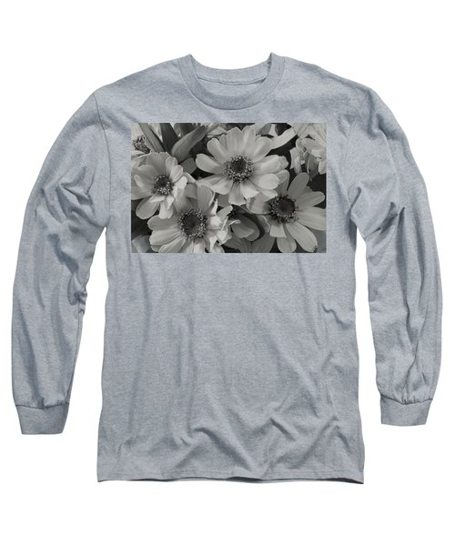 Long Sleeve T-Shirt featuring the photograph Brown Eyed Susan Monochrome by Sandra Foster