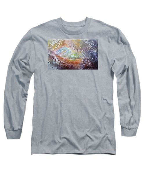 Long Sleeve T-Shirt featuring the painting Bubble Boat by Kathleen Pio