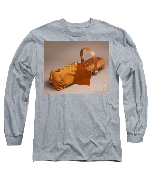 Buckskin Cradleboard Long Sleeve T-Shirt