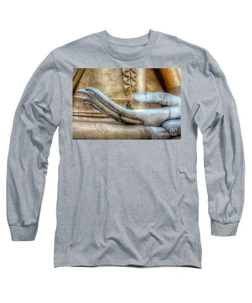 Buddha's Hand Long Sleeve T-Shirt by Adrian Evans