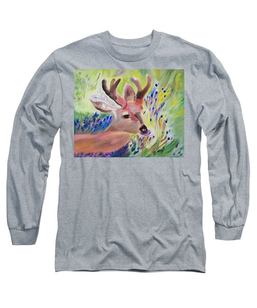 Budding Fields Long Sleeve T-Shirt by Meryl Goudey