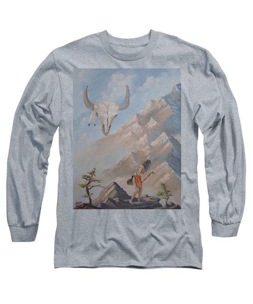 Long Sleeve T-Shirt featuring the painting Buffalo Dancer by Richard Faulkner