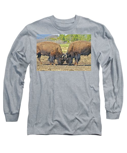 Buffaloes At Play Long Sleeve T-Shirt