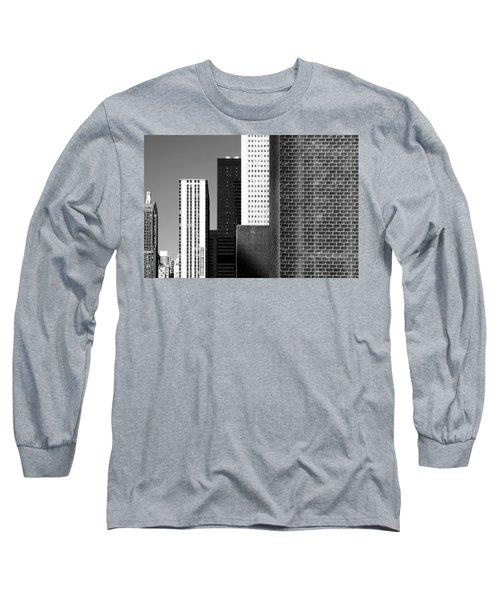 Building Blocks Black White Long Sleeve T-Shirt