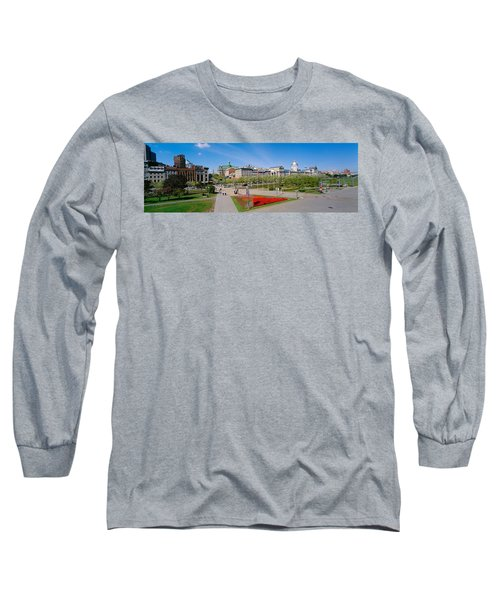 Buildings In A City, Place Jacques Long Sleeve T-Shirt
